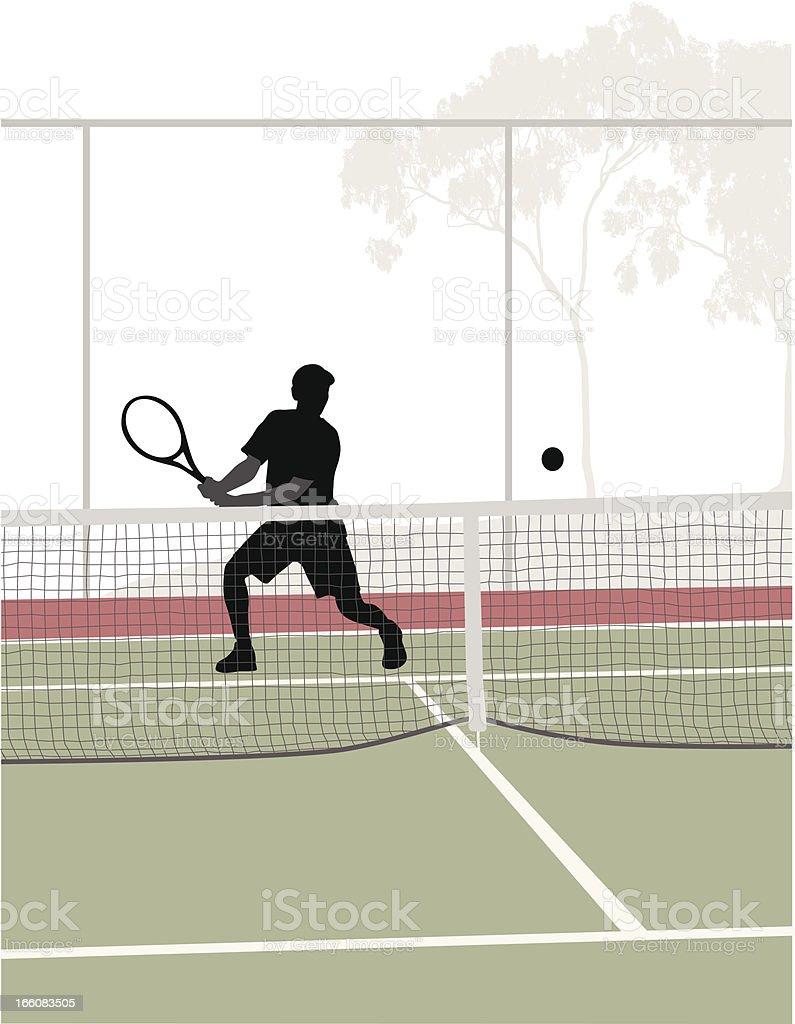 Tennis Shot Vector Silhouette royalty-free stock vector art