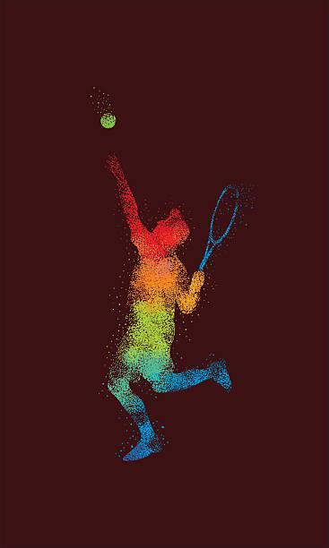 Tennis Smash Illustration Star vector art illustration