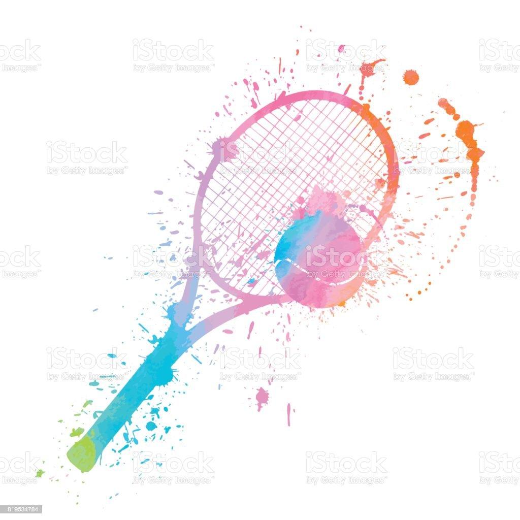 テニスの感嘆符 ベクターアートイラスト