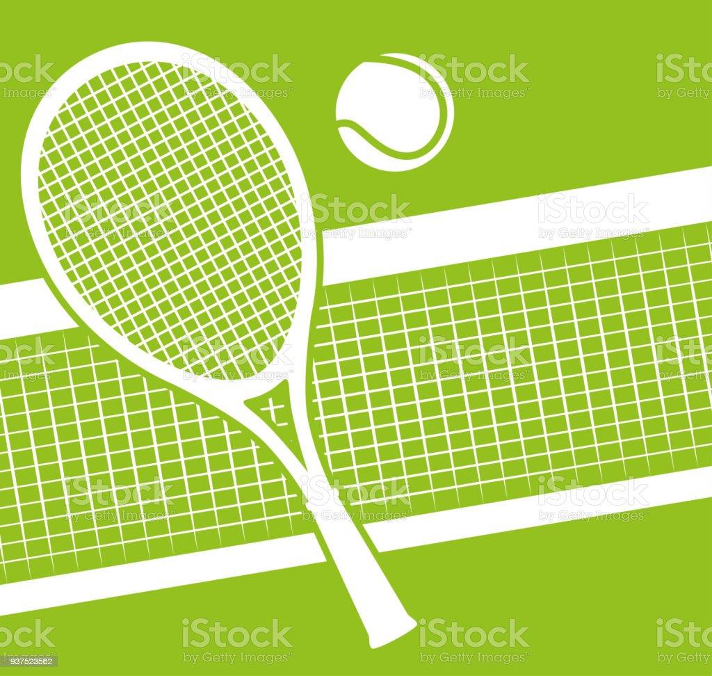 Jeu de sport tennis - Illustration vectorielle
