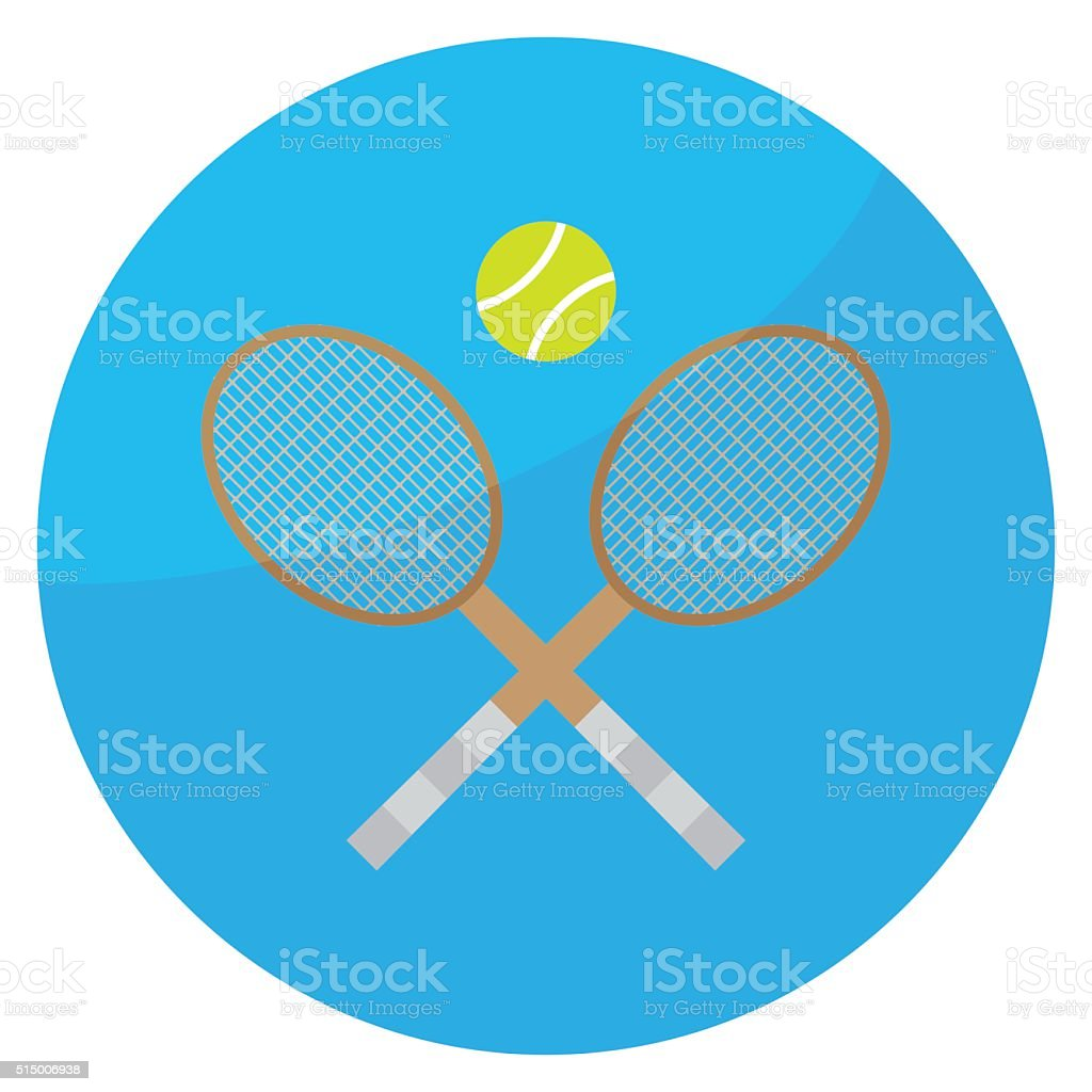 Tennis sport icon vector art illustration
