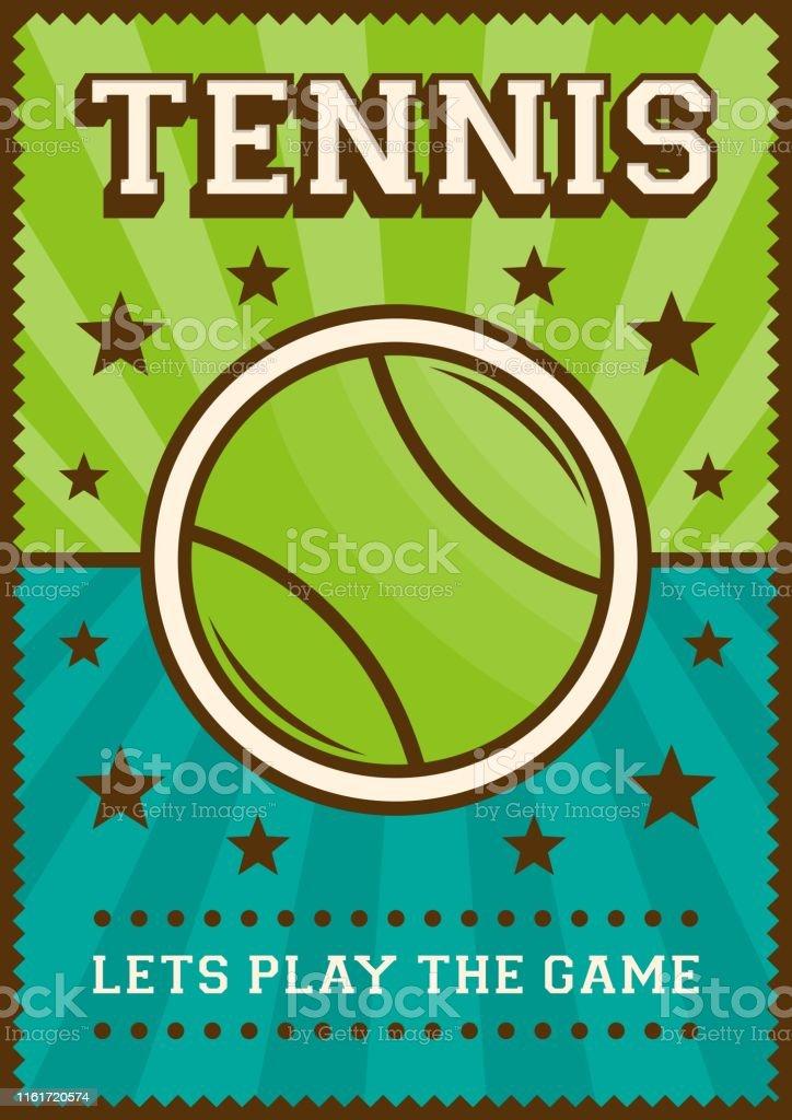 Tennis Sport Retro Pop Art Poster Signage