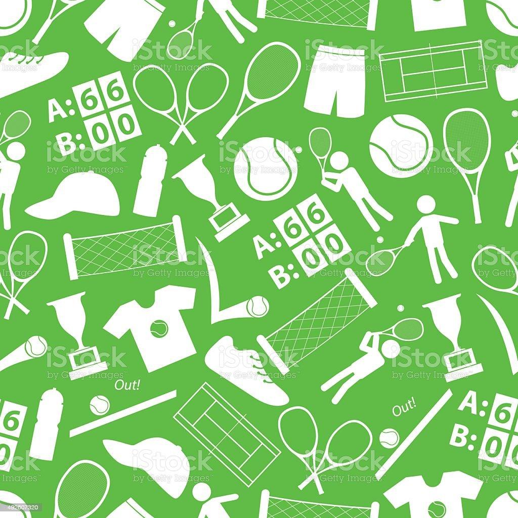 tennis sport theme white and green seamless pattern eps10 vector art illustration