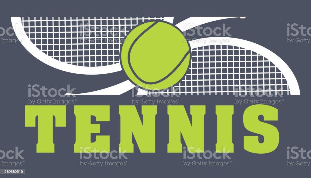 tennis sport vector art illustration