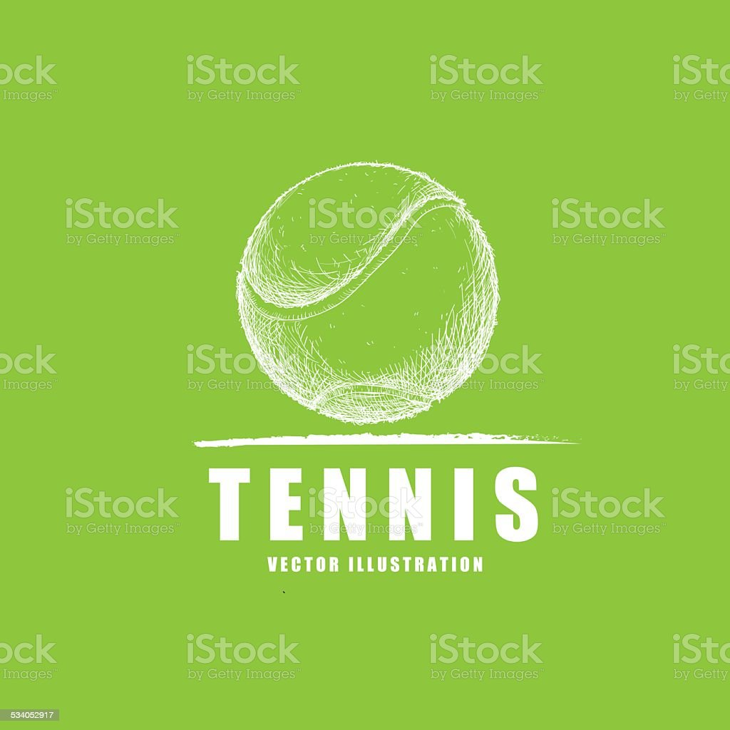 tennis sport vector art illustration