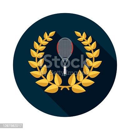 istock Tennis Sports Award Icon 1267582017