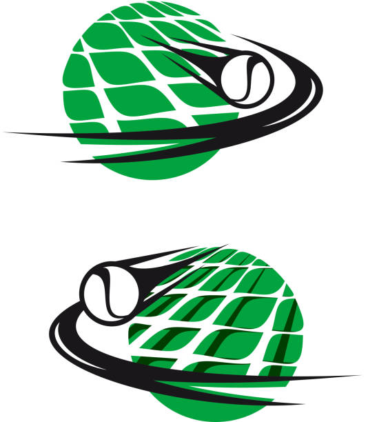 tennis-elemente - wimbledon stock-grafiken, -clipart, -cartoons und -symbole