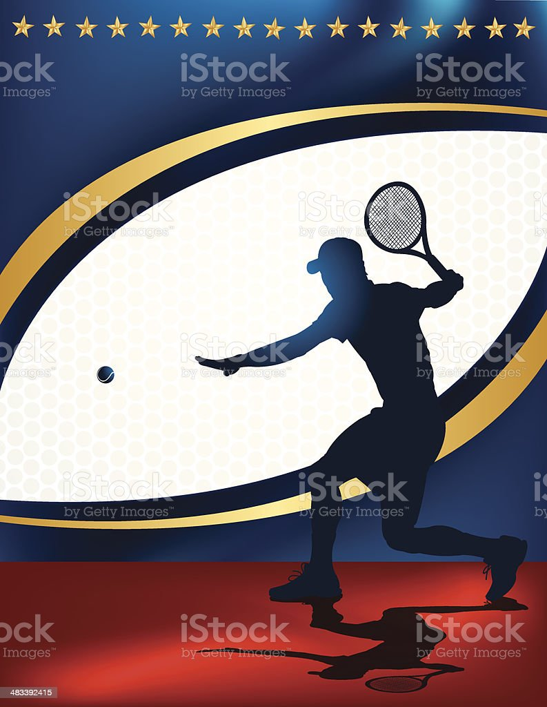 Tennis Star Background royalty-free tennis star background stock vector art & more images of all star