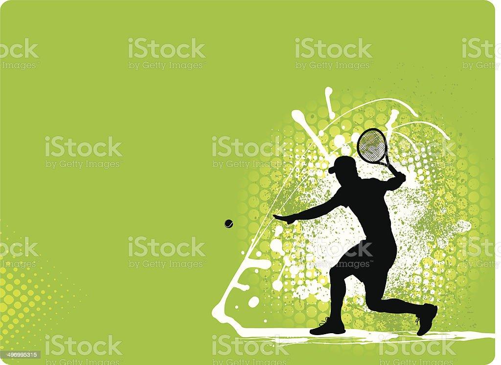 Tennis Star Background royalty-free stock vector art