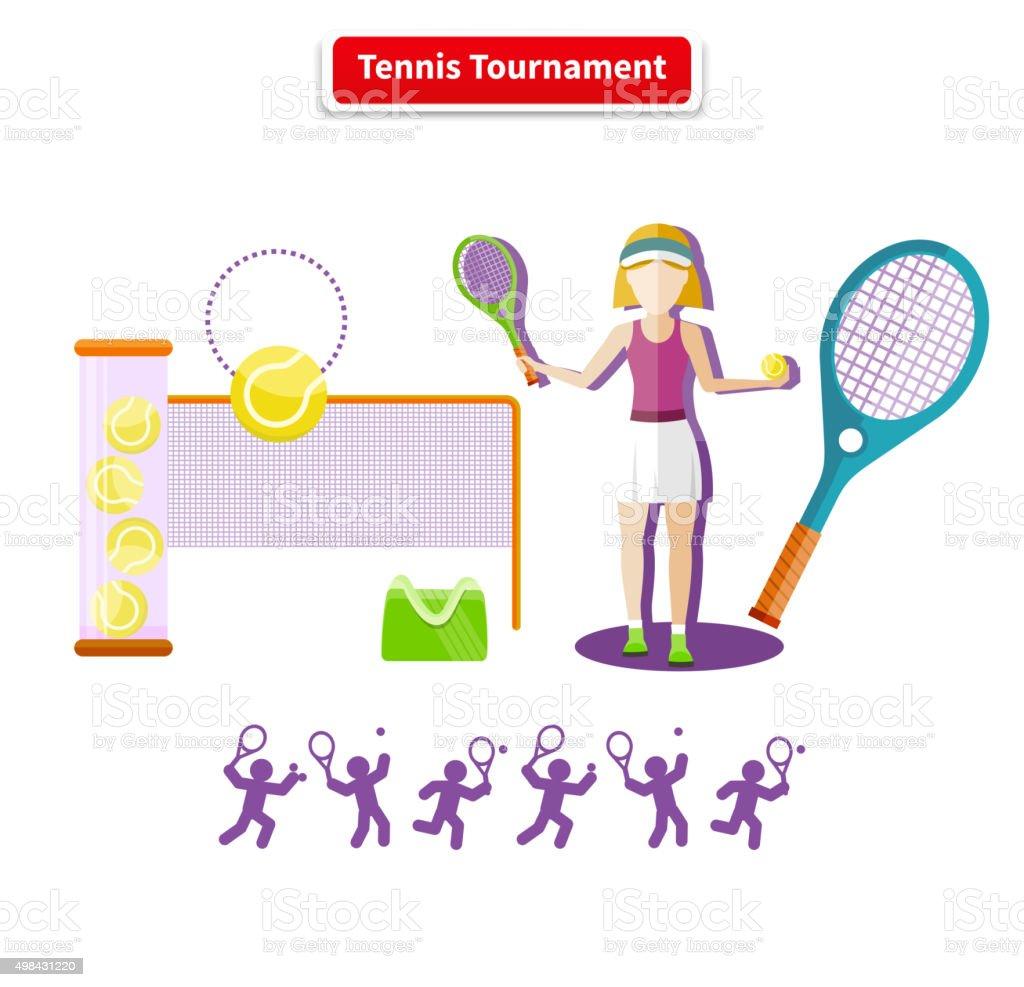 Tennis Tournament Concept vector art illustration