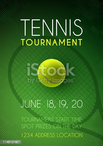istock Tennis tournament poster 1149131621