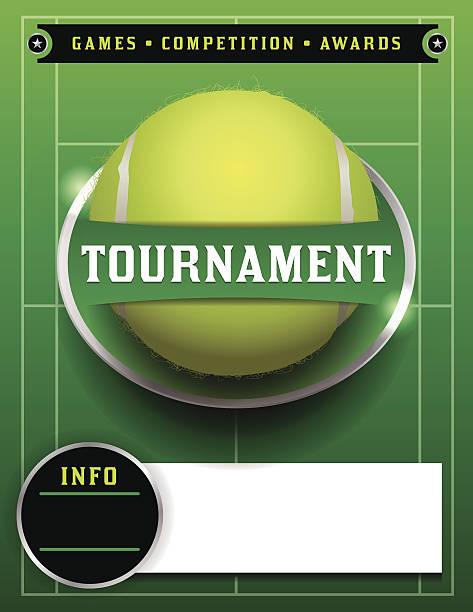 tennisturnier vorlage illustration - wimbledon stock-grafiken, -clipart, -cartoons und -symbole