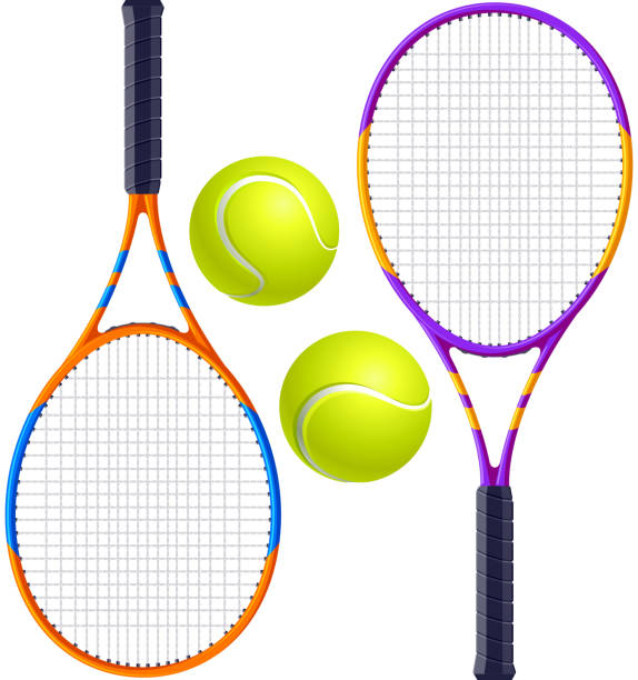 Tennis see more in lightbox racket stock illustrations