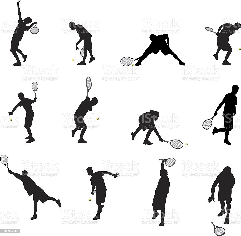 Tennis royalty-free stock vector art