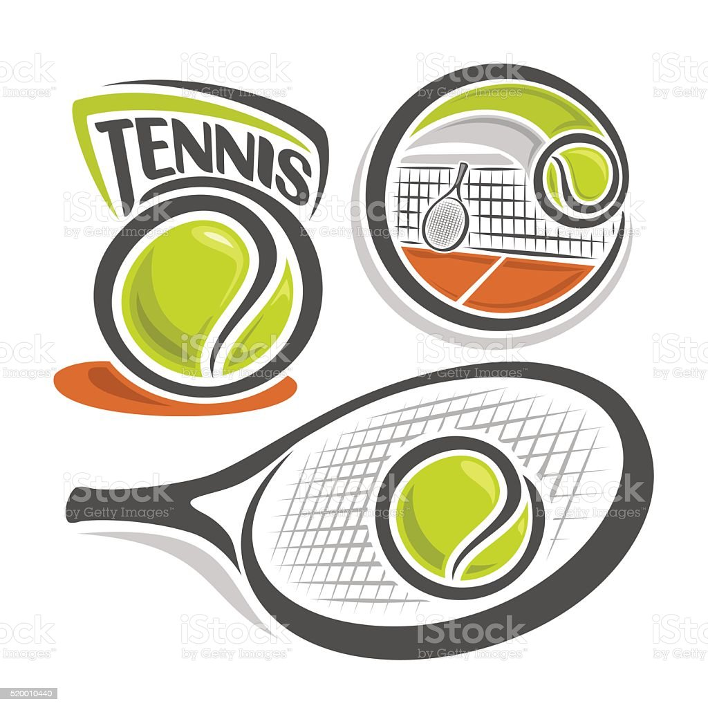 Tennis vector art illustration