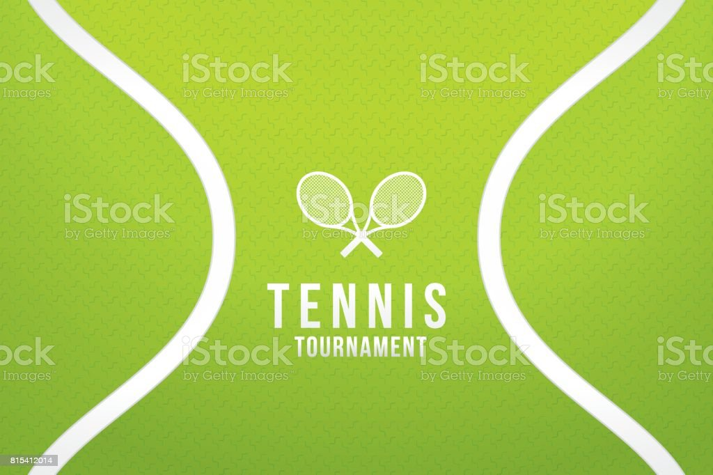 Courts de tennis - Illustration vectorielle