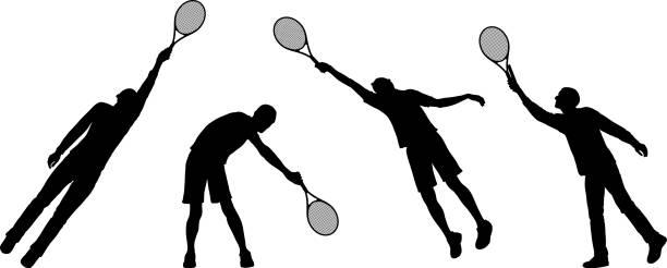 tennis  - wimbledon stock-grafiken, -clipart, -cartoons und -symbole