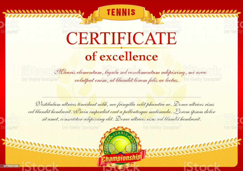 Tennis - Royalty-free Achievement stock vector