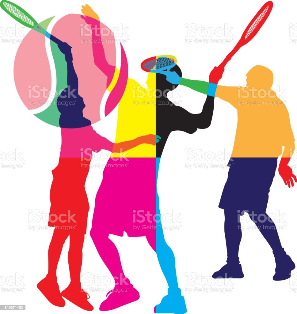 Tennis Vector vector art illustration