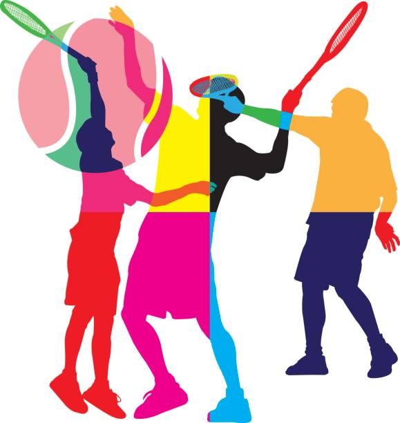 tennis-vektor - wimbledon stock-grafiken, -clipart, -cartoons und -symbole