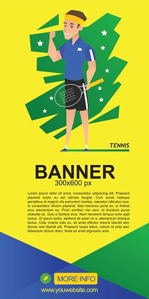 tennis web banner design
