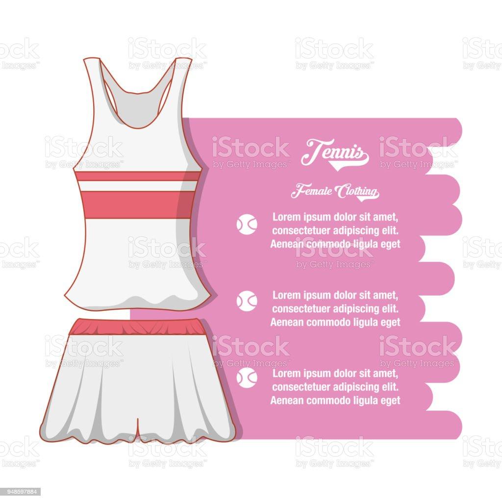 newest collection c558e b3b6c Tennis Damen Bekleidung Symbol Stock Vektor Art und mehr ...