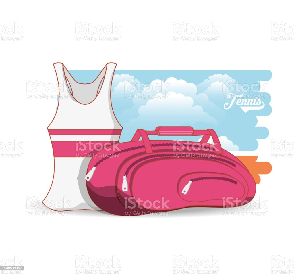 tennis women clothing icon vector art illustration