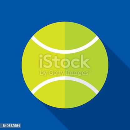 istock Tennisball Icon Flat 842682584