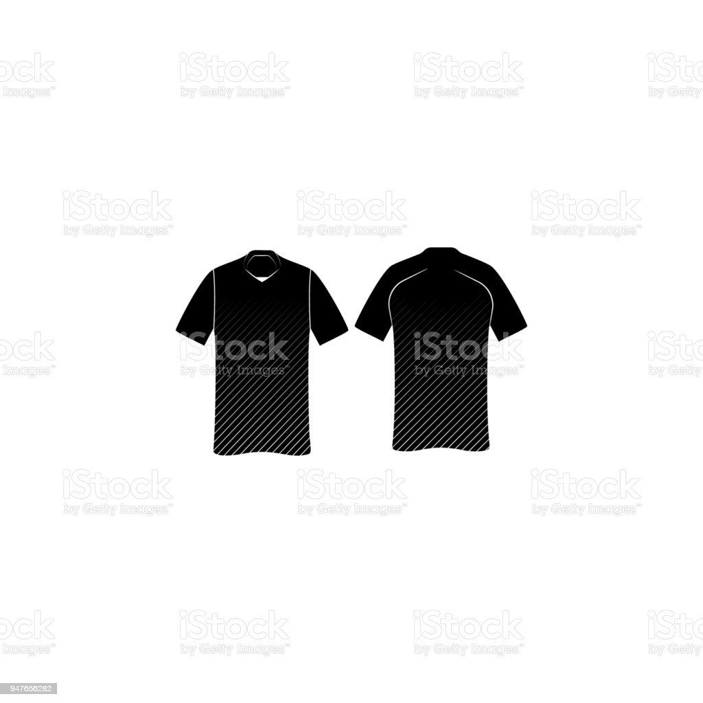 sports shoes f505b 033a0 Tennisshirt Icon Element Of Shirt View Back And Front ...