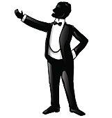 tenor opera singer silhouette