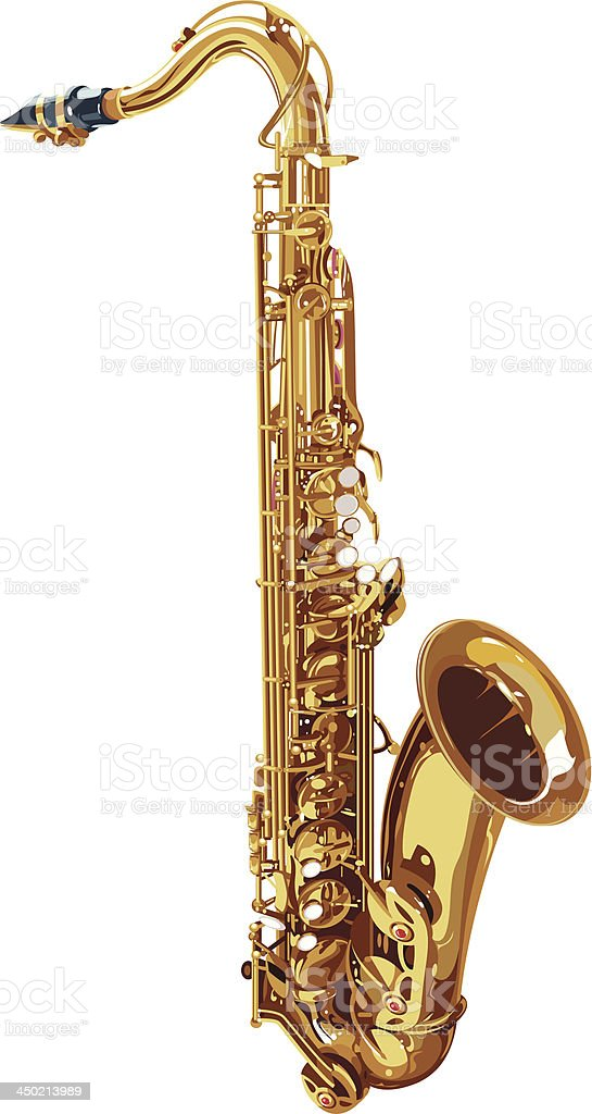 Tenor Saxophone vector art illustration