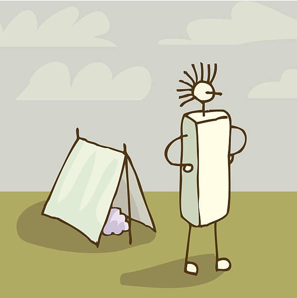 Tent camping vektorkonstillustration