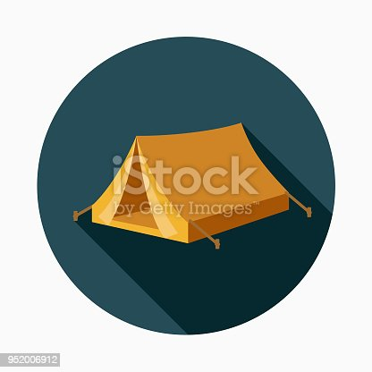 istock Tent Flat Design Western Icon 952006912