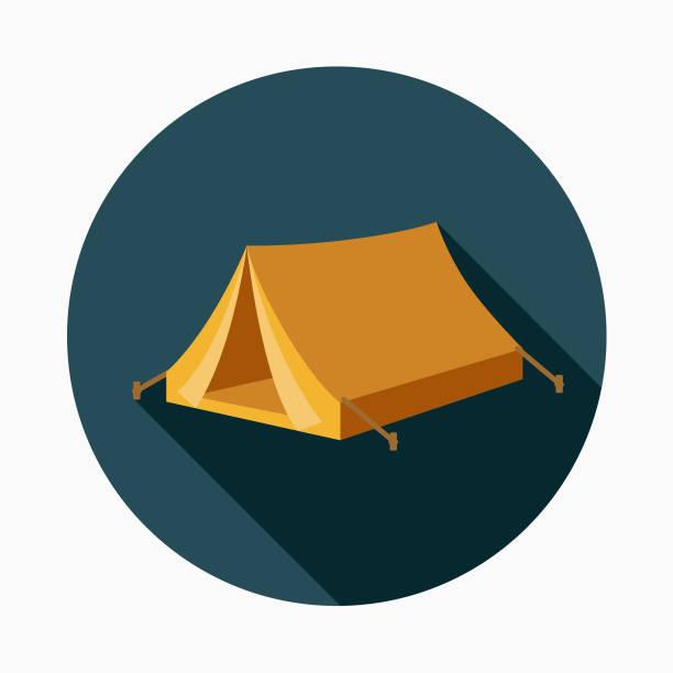 ilustrações, clipart, desenhos animados e ícones de tenda design plano ícone ocidental - barraca