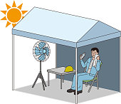Tent for measures against heat stroke