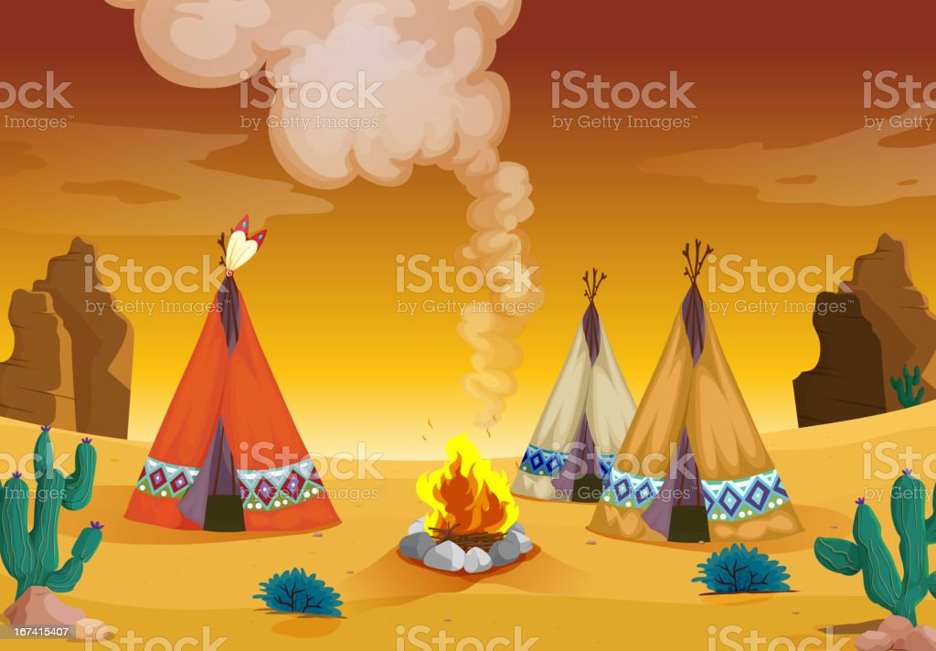 Tent house and fire royalty-free tent house and fire stock vector art & more images of camping