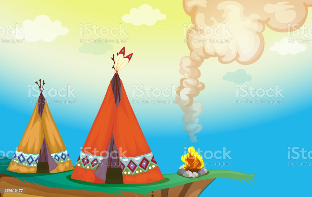 Tent house and fire royalty-free tent house and fire stock vector art & more images of beauty in nature