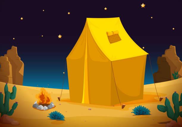 royalty free desert tent clip art vector images