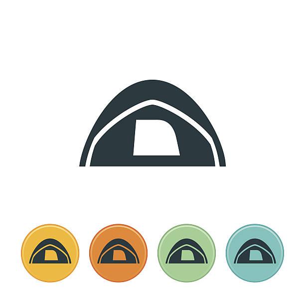 Tent Icon vector art illustration