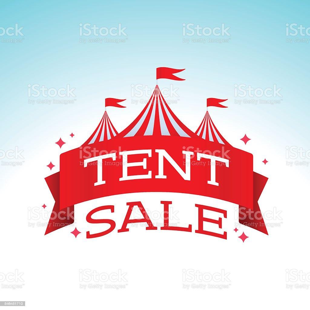 Tent Sale vector art illustration
