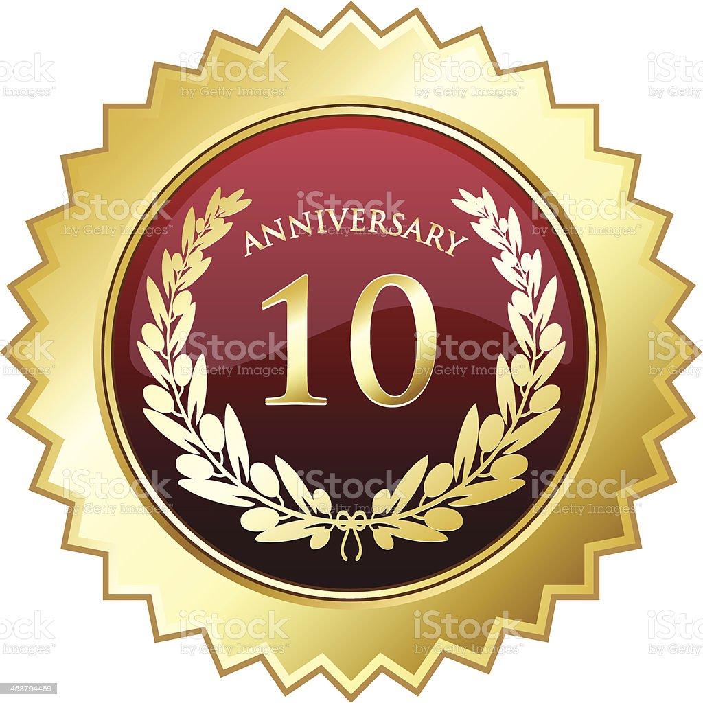 Tenth Anniversary Shield royalty-free stock vector art