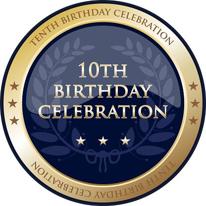 Tenth Birthday Celebration Gold Award