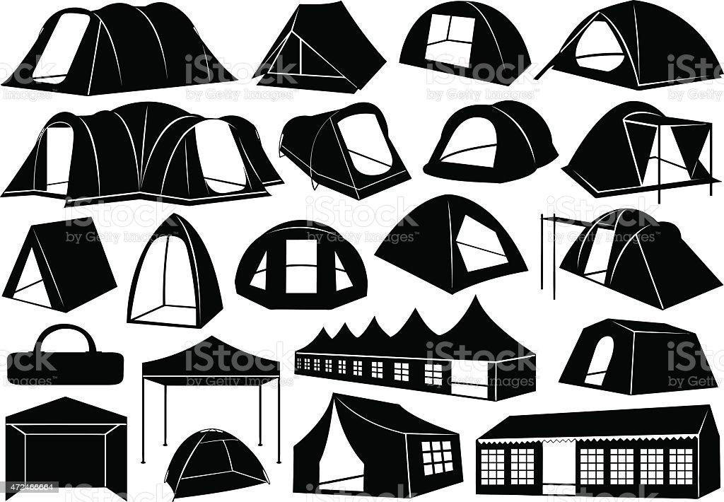 Tents vector art illustration