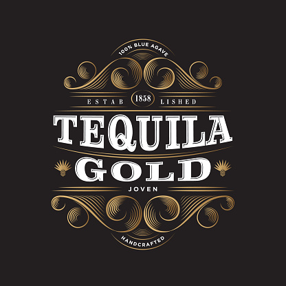 Tequila Gold. Tequila Gold label. Premium Packaging Design.