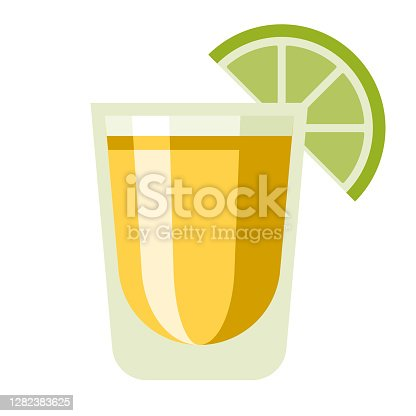 istock Tequila Shot Icon on Transparent Background 1282383625