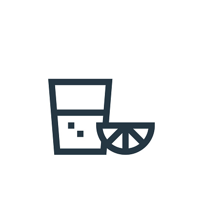 tequila shot icon vector from cinco de mayo concept. Thin line illustration of tequila shot editable stroke. tequila shot linear sign for use on web and mobile apps, logo, print media..