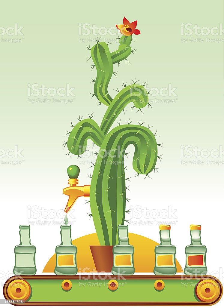 Tequila royalty-free stock vector art