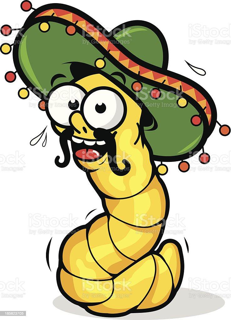 Tequila worm vector art illustration