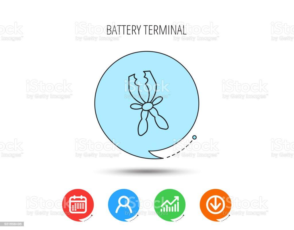 Terminal Elektrische Symbol Aufladen Der Batterie Stock Vektor Art ...