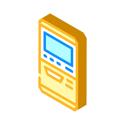 terminal for buying ticket isometric icon vector illustration